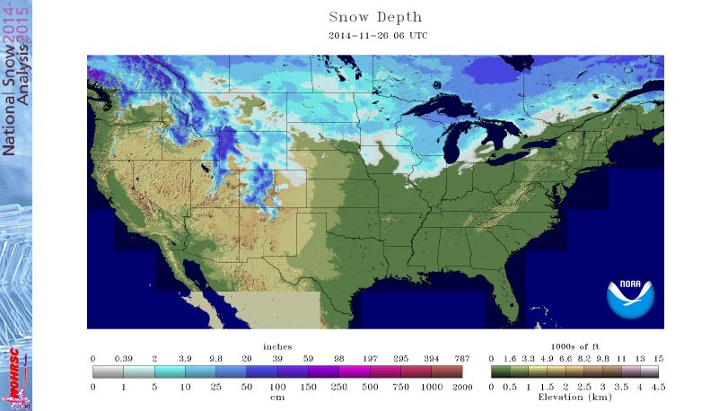 US Snow Cover November 26th