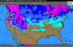 Current US snow cover